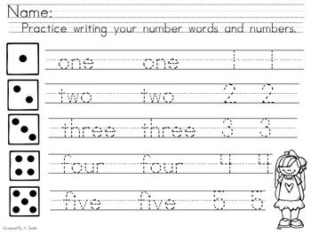 Primary Number Tracer (1-5) FREEBIE!   Math Ideas   Pinterest ...