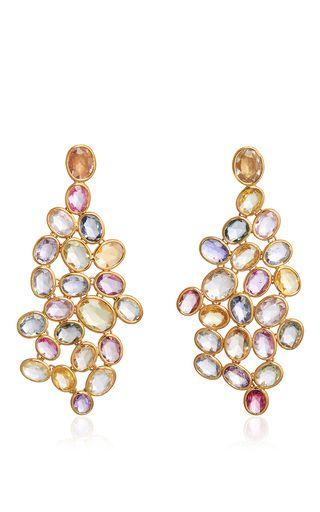 Wave Of Sapphires Earrings by SIDNEY GARBER for Preorder on Moda Operandi