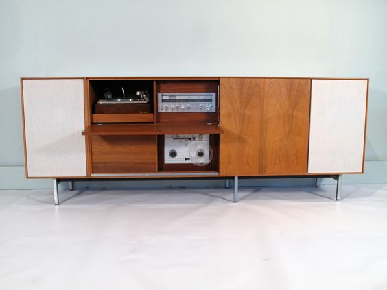 George Nelson Thin Edge Rosewood Stereo Cabinet 1960's