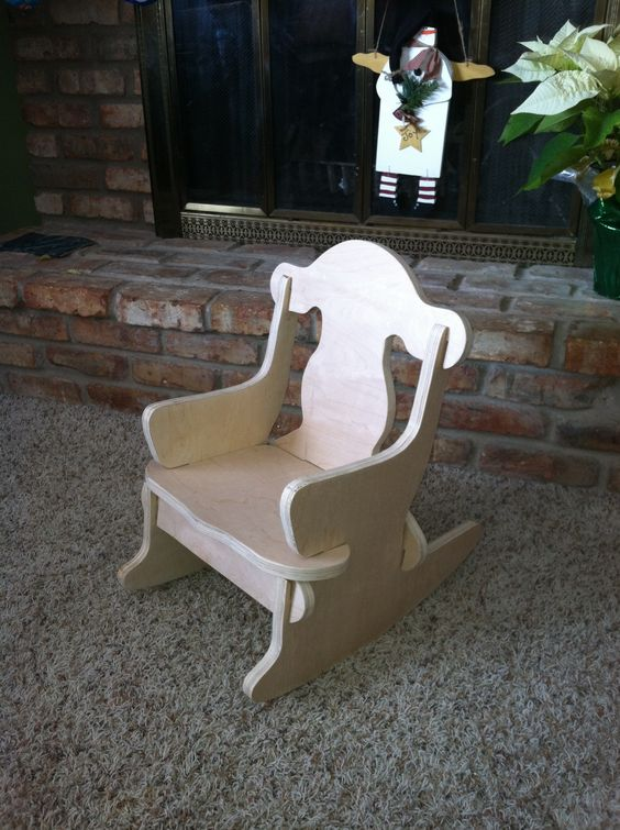 Child S Puzzle Chair No Nails Are Needed Wood Projects