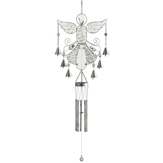 Crystal Angel Wind Chimes - Outdoor