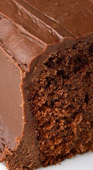 Coca-Cola Cake - A rich chocolate cake with a tender texture and just a hint of something different. The frosting is amazing and also contains cola. ❊