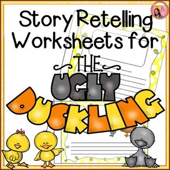 story ugly duckling and more ugly duckling retelling worksheets ...