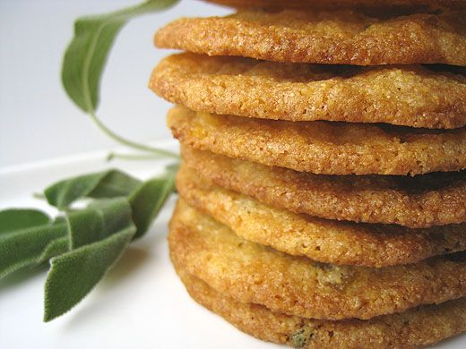apricot, sage and cornmeal cookies...must turn it into a vegan receipe ...