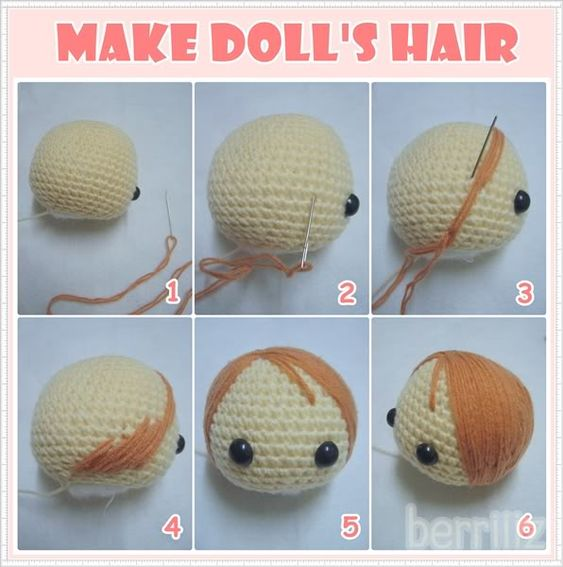 Amigurumi Hair Cap : Berriiiz in amigurumi world how to make alan s hair