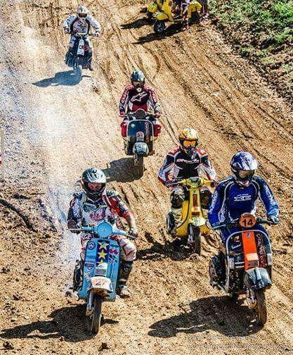 Vespa racing off-road
