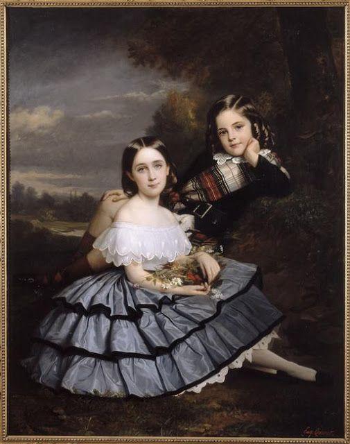 Les enfants de M. Pierre-Paul Pecquet du Bellet ca. 1859 | In the Swan's Shadow: