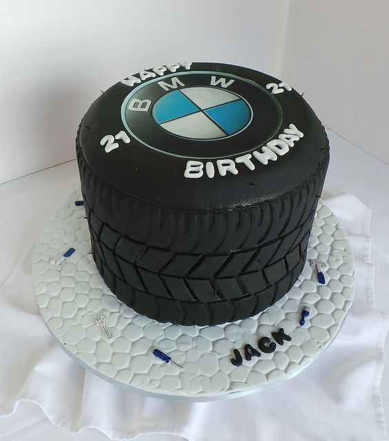 21st Bmw Tyre Themed Birthday Cake Party Ideas