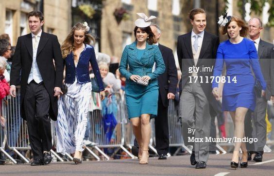 News Photo: Jack Brooksbank Cressida Bonas Princess Eugenie, Dave Clark, and Beatrice.