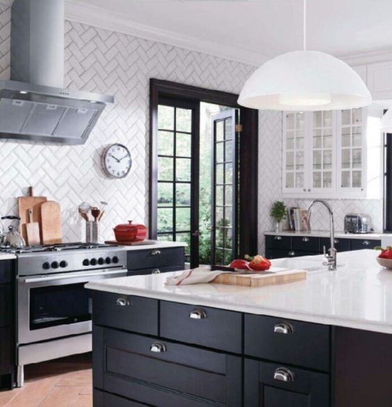 Ikea Black And White Kitchen