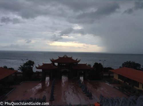 Storm brewing in front of the Ho Quoc...