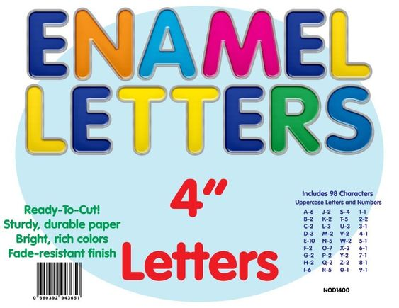 Pin On Enamel Letters Classroom Theme And Decorations