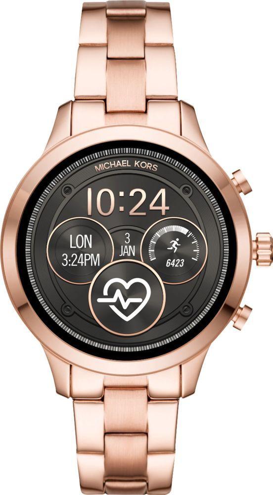 Michael Kors Access Smartwatch 41mm Stainless Steel Rose Gold With Rose Gold Stainless Steel Band Women S Smartwatch Edelstahl Armband Michael Kors