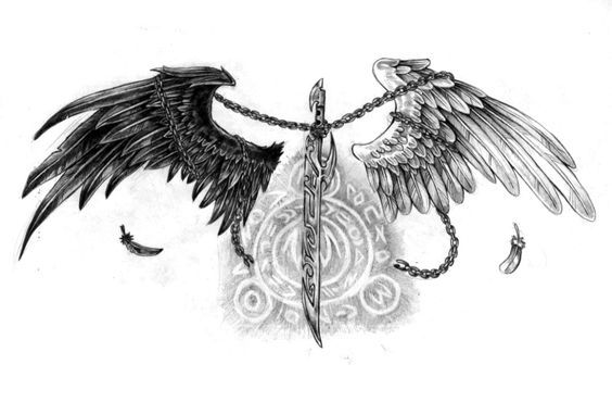Sketch For Back And Chest Chest Tattoo Wings Angel Wings Tattoo