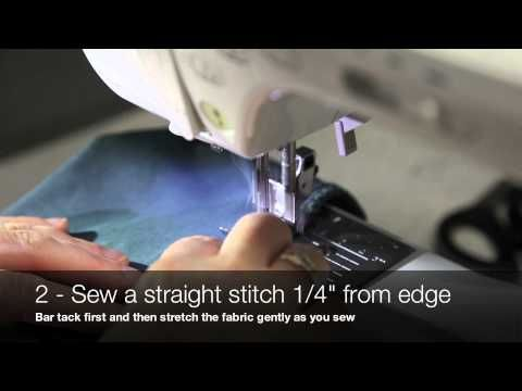 ▶ Jalie Sewing Techniques - Sewing Stretch Fabrics without a Serger - YouTube