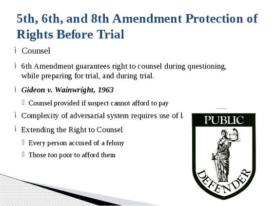 """what is the importance of the sixth amendment Among other rights, the fifth amendment to the united states constitution provides that no person """"shall be compelled in any criminal case to be a witness against himself    ."""