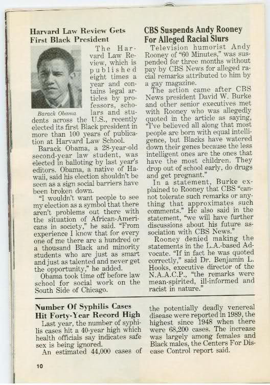 JET magazine in 1990 wrote about 2nd yr law student Barack Obama (conspiracy, racism) - Democrats, Republicans, Libertarians, Conservatives, Liberals, Third Parties, Left-Wing, Right-Wing, Congress, President - City-Data Forum