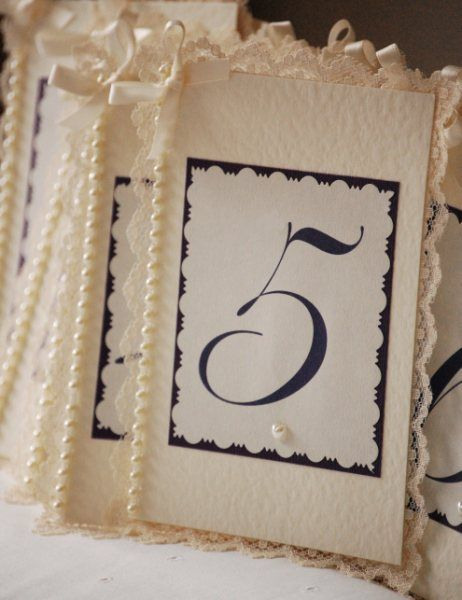 Vintage Lace Table Numbers
