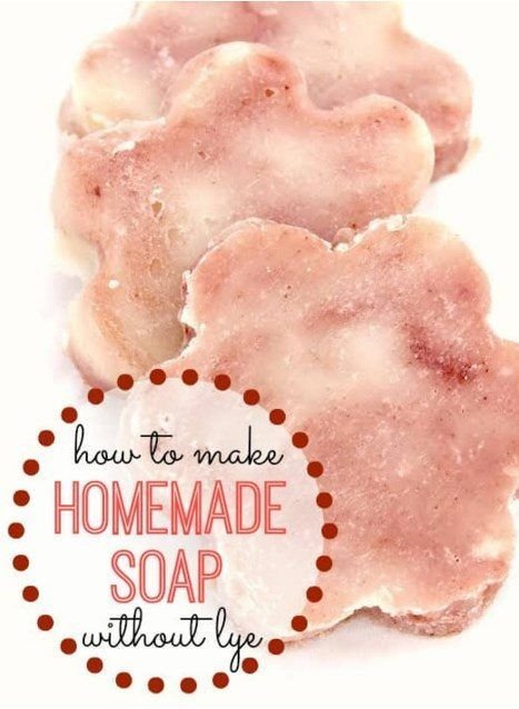 How to make Homemade soap without lye.. The resulting soap from this process is a thick, creamy and rich bar that smells so good you may want to eat it! via