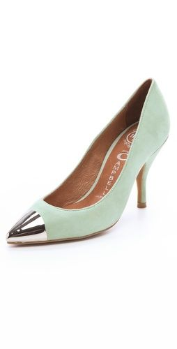 Jeffrey Campbell Flava Suede Pumps! DIE! I might just have to get these because the Topshop & Zara metal toe cap pumps I wanted didn't fit well...  http://rstyle.me/h7xsq3nckw