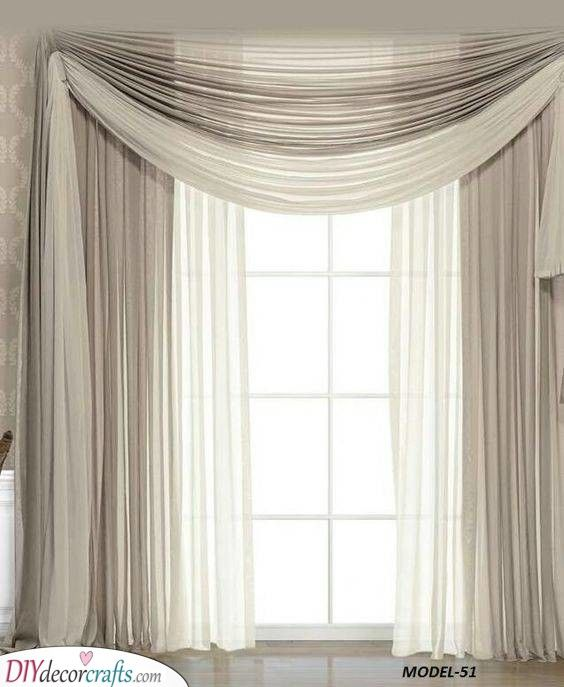 Simple Beige Bedroom Curtain Ideas Living Room Decor Curtains