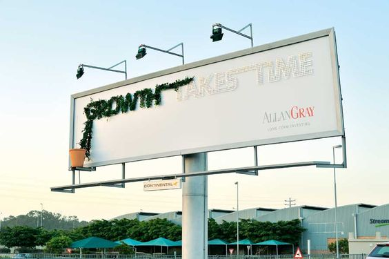 outdoor ads-'Growth Takes Time' Green Billboard -www.ifiweremarketing.com