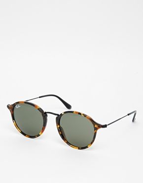 ray ban ronde leopard