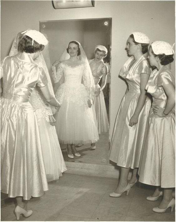 Wedding Dresses For Grandma : Bridesmaids shower vintage bridesmaid gowns