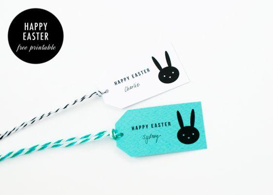 Happy Easter Gift Tags / free printable / Sally J Shim - BLOG