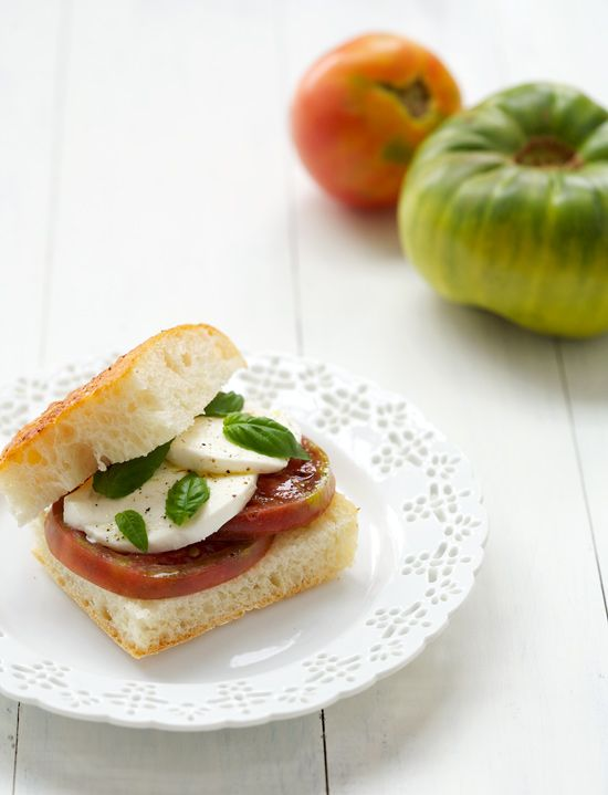 Heirloom Tomato Caprese Sandwiches | Love and Olive Oil