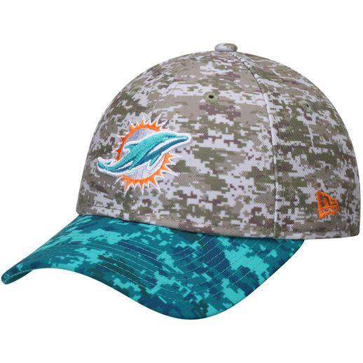 New Era Miami Dolphins Camo Salute to Service 9TWENTY Adjustable ...