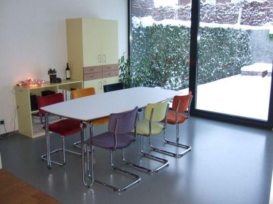 eettafel met gekleurde stoelen leuk for the home On eettafel met gekleurde stoelen