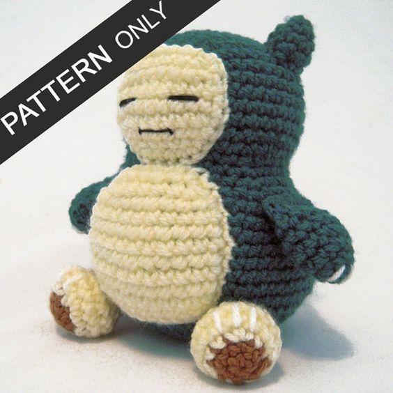 Amigurumi Pokemon Snorlax : PATTERN Snorlax Amigurumi Crochet Plush PDF Amigurumi ...