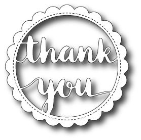 99414 - Scalloped Thank You Circle Frame