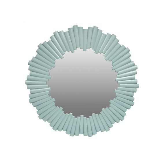 Aqua Round Rattan Mirror - This stunning star burst design is elegant and just a touch modern, which gives it a super-chic look. #PNshop