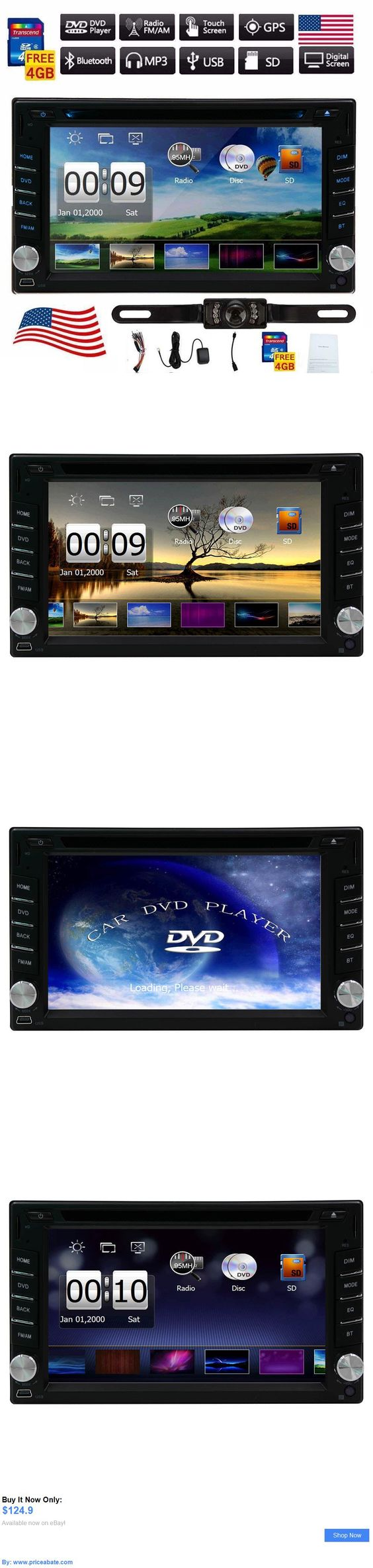 Vehicle Electronics And GPS: Hd Touch Screen Double 2Din Car Gps Stereo Cd Dvd Player Bluetooth Radio Camera BUY IT NOW ONLY: $124.9 #priceabateVehicleElectronicsAndGPS OR #priceabate