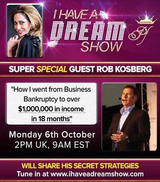 Rob Kosberg LIVE  http://ihaveadreamshow.com/live-show