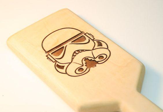 BDSM Trooper Spanking Paddle Maple by SPORKWood on Etsy, $34.99