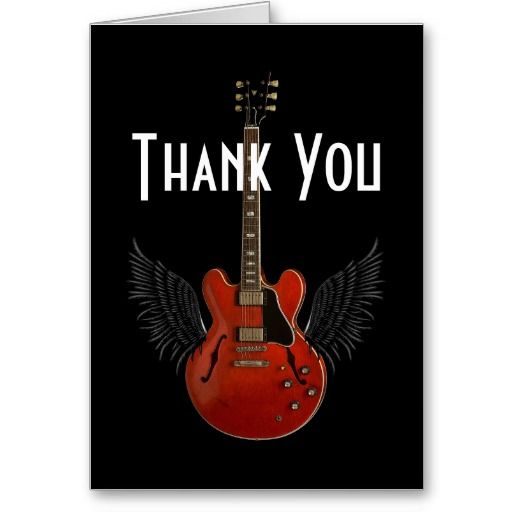 You Totally Rock! Thank You Card available at www.zazzle.com/stevebrownleeart