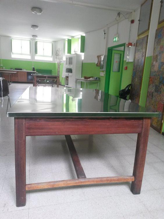 restauro del nostro antico tavolo da lavoro. abbiamo recuperato ... - Tavolo Da Cucina In Legno Antico