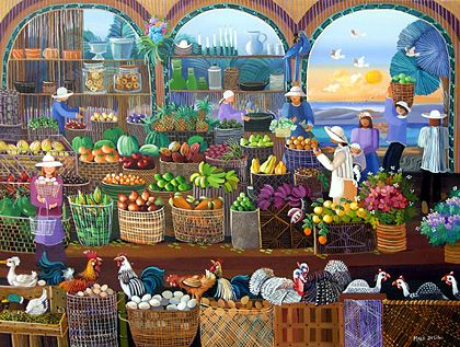 A Country Market by Malu Delibo