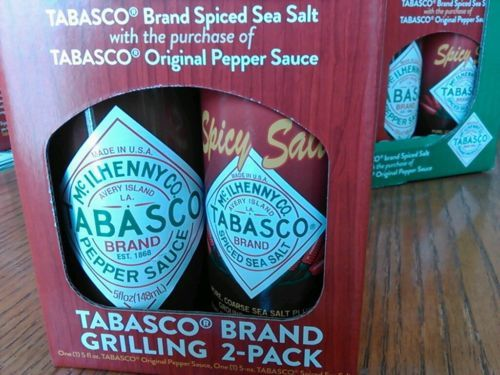 TABASCO SAUCE and SPICY Spiced SEA SALT, a RARE FIND*BBQ, Dry Rubs, Bloody Mary