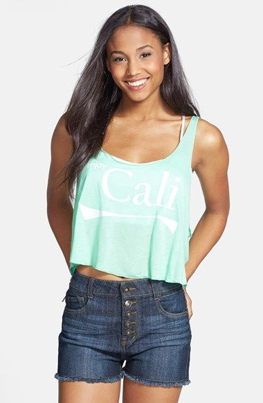 Love Tree 'Cali' Crop Muscle Tank (Juniors) available at #Nordstrom