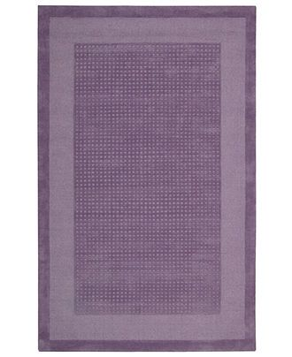 "Nourison Area Rug, Westport WP30 Purple 2' 6"" x 4' - Traditional Rugs - Rugs - Macy's In playful purple, this charming rug will warm up any space in your home. A distinctive center grid gives the rug a delightful texture while coordinating well with casual and modern interiors. Hand-tufted of wool for premium softness and durability."