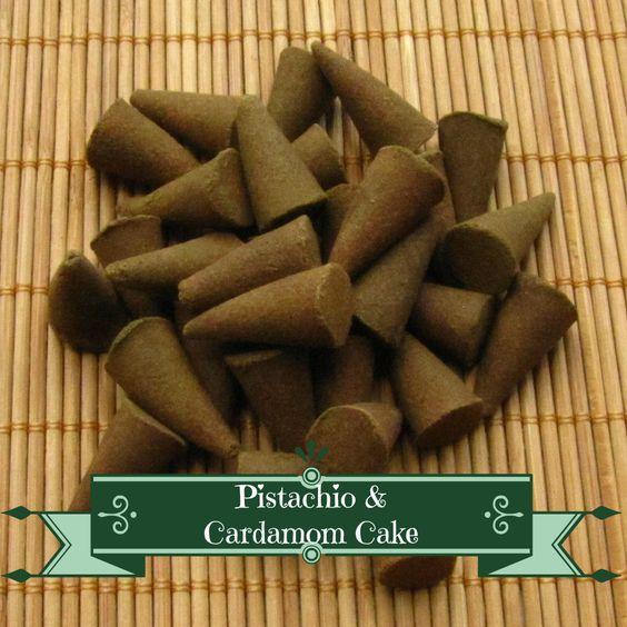 Pistachio & Cardamom Cake Incense Cones