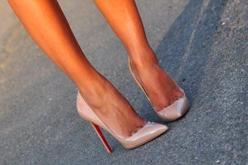 Christian Louboutin | Pigalle | Nude Pointed Toe Stiletto Heels. #heels #shoes #fashion