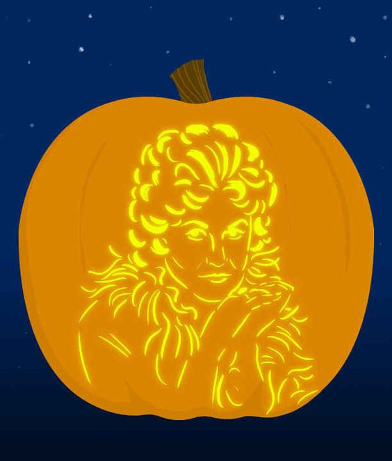 Bea arthur pumpkin carving games and pop culture on pinterest