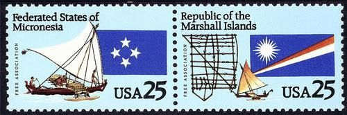 Scott 2506 07 25 Cent Micronesia Marshall Islands SE Tenant Pair MNH | eBay