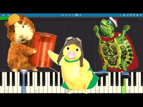 Wonder Pets Theme Song Easy Piano Tutorial Youtube Wonder