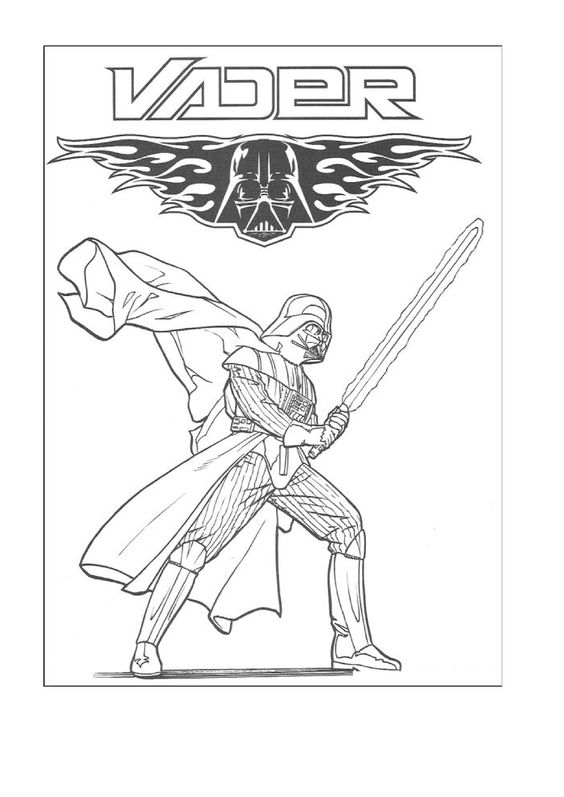 This is a graphic of Peaceful Darth Vader Coloring